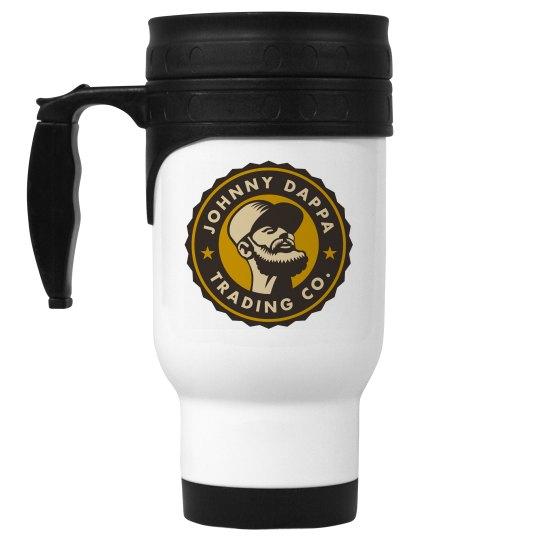 14 oz. White Stainless Steel Travel Coffee Mug JDTC01