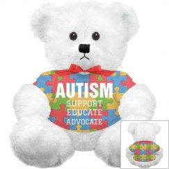All Over Print Autism Plush Bear