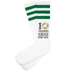 Mardi Gras Custom Socks