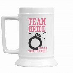 Custom Team Bride Stein