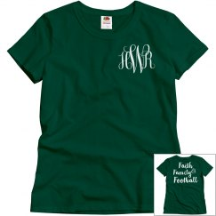 Faith Family & Football Monogram Tee