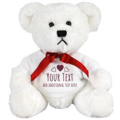 Custom Text Hearts Bear