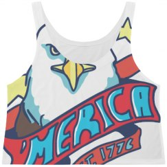 'Merica Eagle July 4th Print