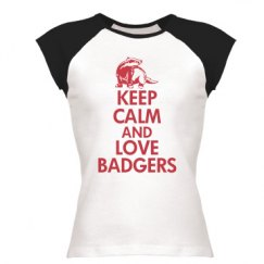 Keep calm love badgers