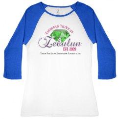 Ladies Slim Fit 3/4 Sleeve Raglan Tee