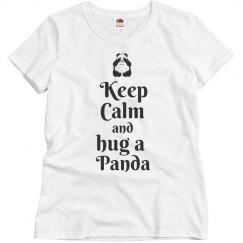 Keep calm hug a panda
