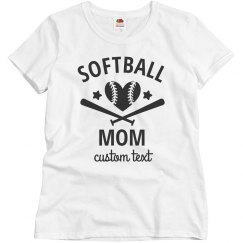 Softball Mom Customizable Tees