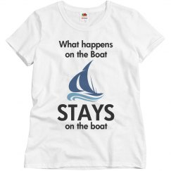What happens on the boat