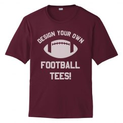 Custom Football Tee Design
