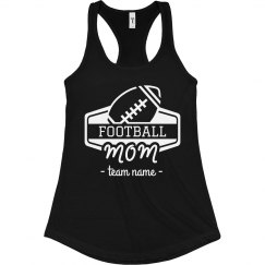 Football Mom Custom Team Racerback Tank