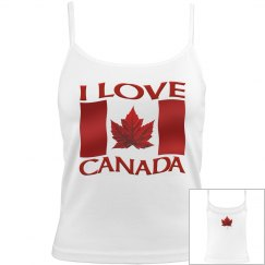 I Love Canada Tank Top Women's Camisole