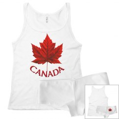 Canada Pajamas Canada Tank Top & Underwear Sleep Set