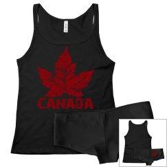 Cool Canada Pajamas Canada Tank Top & Underwear Set