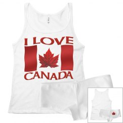 I Canada Canada Pajamas Canada Tank Top & Underwear Set
