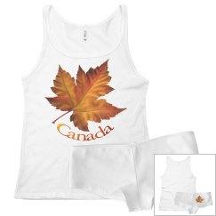 Canada Pajama Sets Canada Maple Leaf Top Underwear