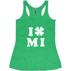 I Love St Patricks Day Michigan