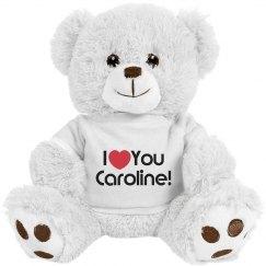 Custom love bear