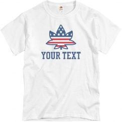 Custom Text July 4th Weed USA