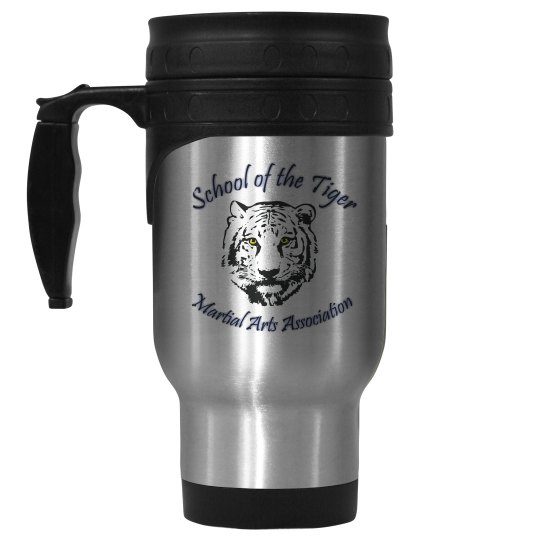 14oz Stainless Steel Travel Mug with Logo