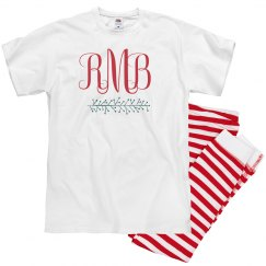 Christmas Monogram Matching Pajamas