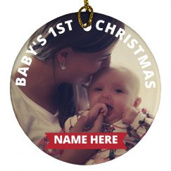 Custom Baby 1st Christmas Design
