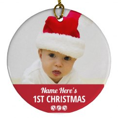Baby's First Christmas Custom Photo