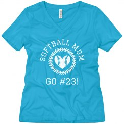 Softball Mom Custom Player Number