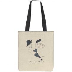 """Bogie & Bacall"" Tote Bag"