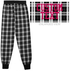 Personalized Flannel Tailgate Sweatpants