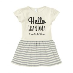 Hello Grandma Baby Announcement Dress