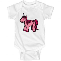 Mystical Pink Unicorn Infant Onsie