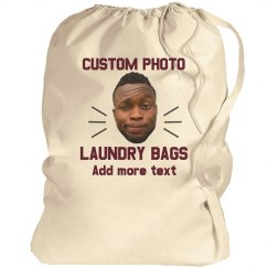 Photo Upload Laundry Bag