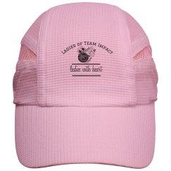 Ladies Of Team Impact hat. White