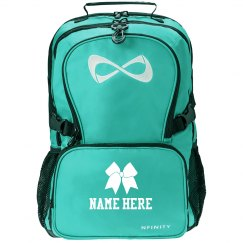 Cheer Bow Custom Name Backpack