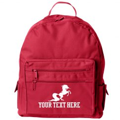 Custom Text Unicorn Backpack