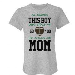 Football Mom Shirt Heart