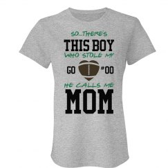 Football Mom Shirt Heart