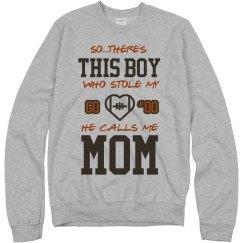 Custom Football Mom's Heart