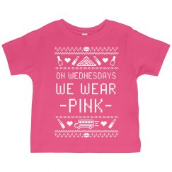 Toddler Mean Girls On Wednesdays We Wear Pink Tee