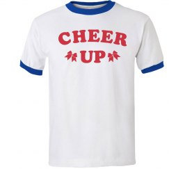 Trendy Cheer Up Cheerleader Tee