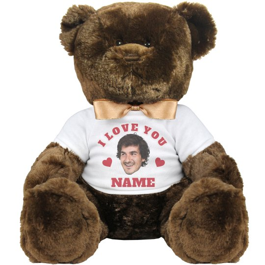 3fae7c33046e Funny Upload Your Face Gift For Her 14 Inch Teddy Bear Stuffed Animal