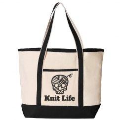 Knit Life Skull Tote