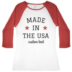 Made in the USA Custom Patriotic Raglan