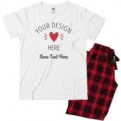 88bf1f796e Toddler Pajama Set · Custom Kid's Valentine Heart
