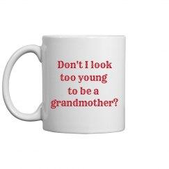 young grandma mug