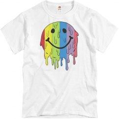 Melting Rainbow Smiley Emoji Unisex T-shirt