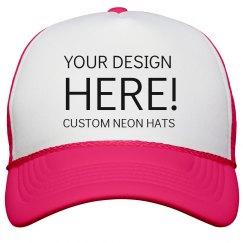 Design Custom Neon Hats