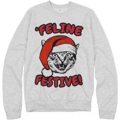 Feline Festive Xmas Cat