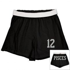 Pisces Sporty Zodiac Cheer Short