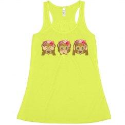 Neon Emoji Monkeys